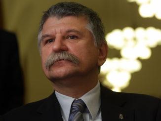 Kövér László, a Parlament házelnöke a Szabad György emlékére tartott konferencián az ELTE kari tanácstermében 2015 december 4-én