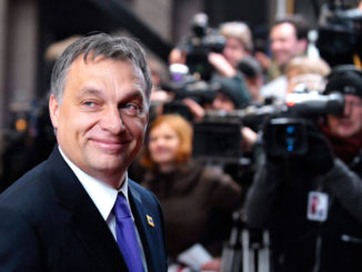 Hungary's Prime Minister Viktor Orban arrives at a European Union summit in Brussels
