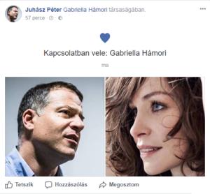 Juhász Péter, Facebook